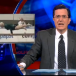 86 Year Old German Woman Does Planche on Colbert report